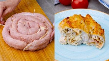 Rotolo di lonza farcito: la torta di carne piena di gusto!