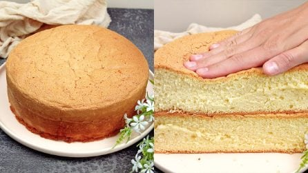 3 ingredients sponge cake: very fluffy and fragrant!