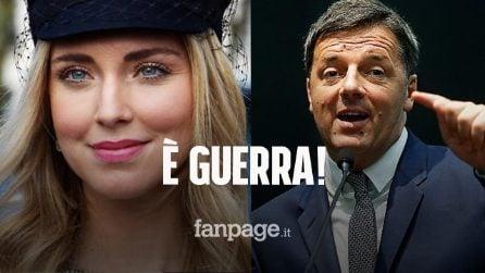 """Chiara Ferragni attacca Renzi sul ddl Zan, lui replica: """"Qualunquista, parliamone se hai coraggio"""""""