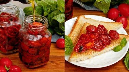 Pomodorini confit: deliziosi sia come antipasto che come contorno!