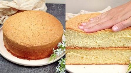 Pan di spagna con 3 ingredienti: come fare una torta soffice e dal risultato assicurato!