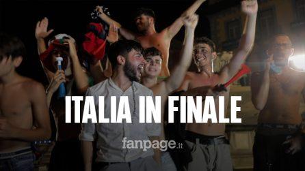 L'Italia batte la Spagna e vola in finale agli Europei:esplode la festa a Napoli