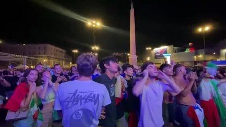 EURO2020, l'Italia vince la semifinale contro la Spagna: la gioia dei tifosi a piazza del Popolo