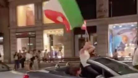 La festa di Milano per la Nazionale: tifosi a Corso Buenos Aires dopo Italia-Spagna