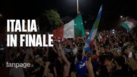 Italia in finale agli Europei, festeggiamenti e caroselli in centro a Roma