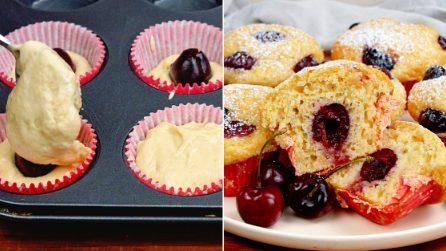 Cherry muffins: a tasteful recipe, ready in few steps!