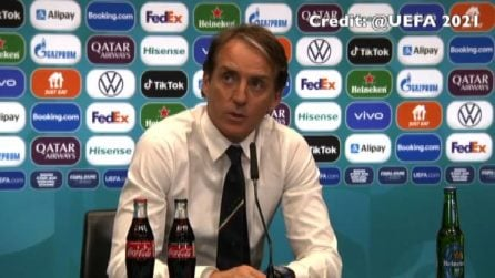"""Euro2020, Mancini: """"Abbiamo sofferto, felici di essere in finale"""""""