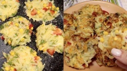 Frittelle di patate e mais: la ricetta veloce e saporita