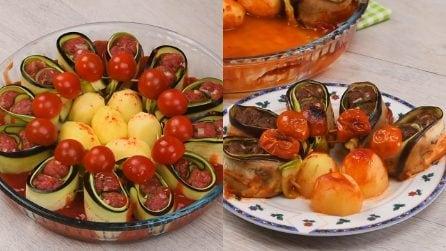 Torta di polpette con zucchine e melanzane: il piatto unico da servire a una cena speciale!