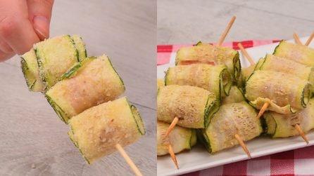 Spiedini di zucchine al forno: gustosi e filanti!