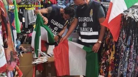 Europei, Napoli invasa da maglie della Nazionale e bandiere italiane false