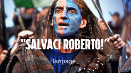 """Mancini diventa Braveheart, gli scozzesi fanno il tifo per l'Italia: """"Salvaci Roberto"""""""