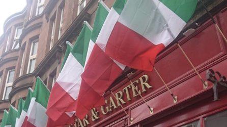 Anche in Scozia si tifa Italia: il tricolore campeggia per le strade di Glasgow