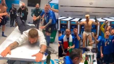 Euro 2020, Italia Campione e grandi festeggiamenti negli spogliatoi