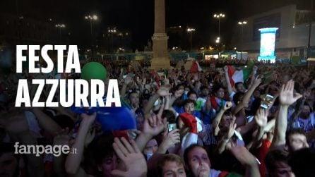 Campioni d'Europa: Roma in piazza tra caroselli e fuochi d'artificio