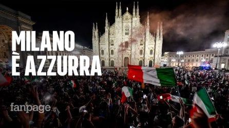 """Euro2020, Milano festeggia l'Italia campione: """"Oggi è più bello essere italiani"""""""