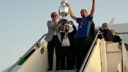 Italia campione d'Europa: l'arrivo degli azzurri a Fiumicino