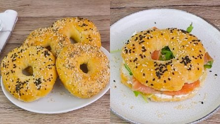2 ingredients bagel: easy and quick to prepare!