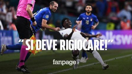 """""""Italia-Inghilterra si deve rigiocare"""": la petizione punta sullo """"scandalo"""" Chiellini"""