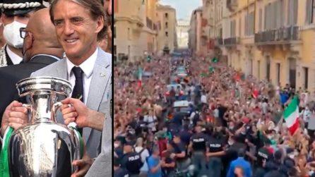 """""""Adesso la Coppa è a Roma"""", il post e le immagini del ct Roberto Mancini"""
