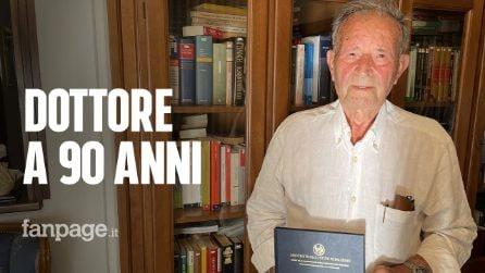 """Angelo si laurea per la terza volta a 90 anni: """"Non è mai troppo tardi"""""""