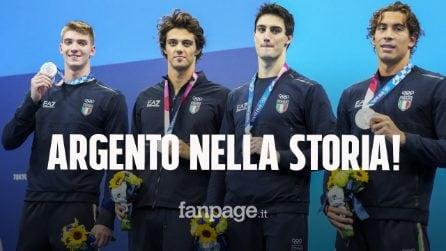 Italia d'argento nella staffetta 4X100 stile libero, record e medaglia storica alle Olimpiadi