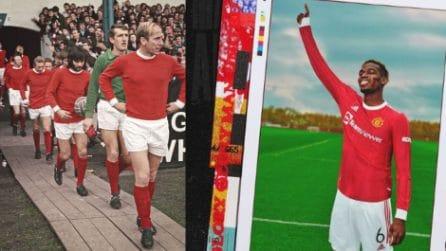 La nuova maglia del Manchester United 2021-22: elementi vintage dalle gloriose maglie del passato