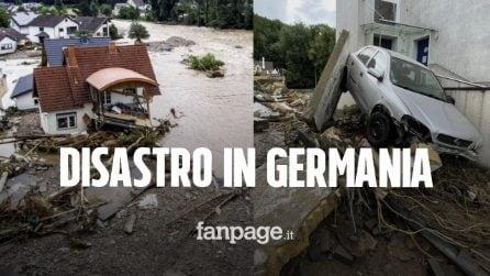 """Nubifragi e inondazioni in Germania, almeno 80 morti e 1.300 dispersi: """"È una tragedia"""""""