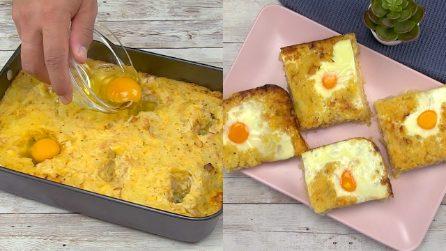 Quadrotti di patate e uova: per una cena veloce e gustosa!