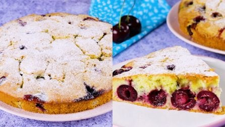 Torta di ciliegie: soffice e morbida, la adoreranno tutti!