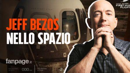 Jeff Bezos è andato nello spazio: il video del viaggio della New Shepard