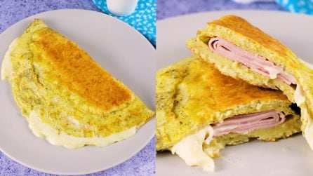 Stuffed omelette sandwich: an original recipe for a quick and tasty dinner!