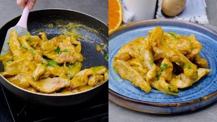 Pollo con crema all'arancia: per un secondo piatto semplice e speziato!