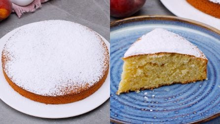 Peach cake: how to make it soft and fragrant!
