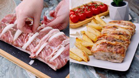 Lonza di maiale farcita al forno: buonissima ma soprattutto facile da preparare!