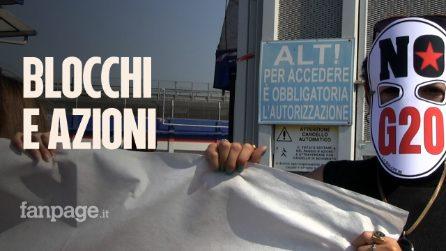 """Napoli al via il G20, attivisti bloccano porto e deposito Q8: """"Dai governi solo false promesse"""""""