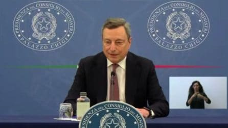 """Draghi: """"Green pass non è arbitrio, è condizione per tenere aperte le attività """""""