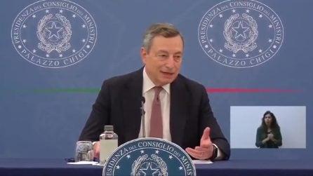 """Draghi: """"L'appello a non vaccinarsi è un appello a morire"""""""