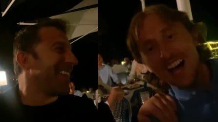 """Alessandro Del Piero canta insieme a Modric: """"Ho scoperto un nuovo talento"""""""