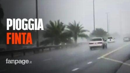 A Dubai creano pioggia finta con aerei e droni per combattere il caldo asfissiante