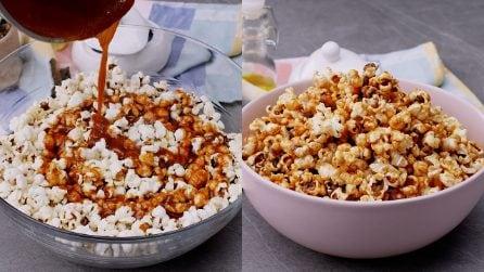 Popcorn al caramello: lo snack irresistibile, ideale per un party tra amici!