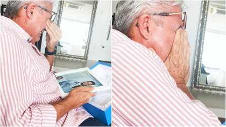 Suo figlio gli annuncia a sorpresa che sta per laurearsi: la reazione di questo papà è commovente