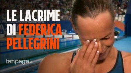 """Federica Pellegrini non trattiene le lacrime: """"È la mia ultima Olimpiade"""""""