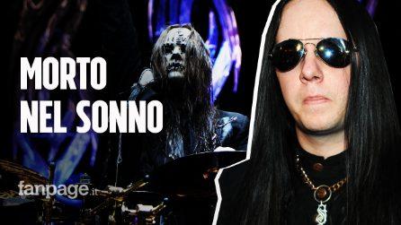 È morto nel sonno Joey Jordison, il batterista degli Slipknot aveva 46 anni
