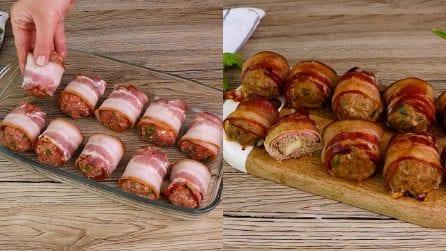 Polpette avvolte dal bacon in forno: la ricetta sfiziosa da provare subito!