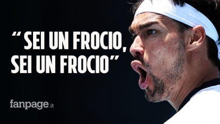 """""""Sei un frocio, sei un frocio"""": l'audio di Fognini alle Olimpiadi passa ogni limite"""