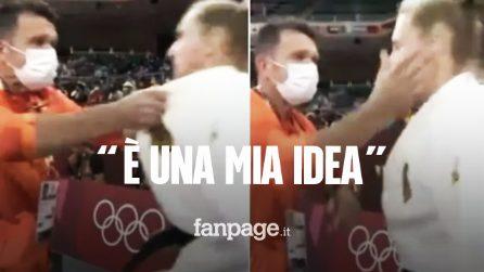 """""""Prendimi a schiaffi"""", l'insolito rituale della judoka prima di un match alle Olimpiadi"""