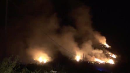 Sicilia, incendi nella Piana degli Albanesi