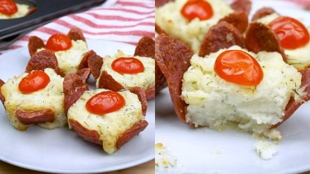 Salami flowers: a tasty recipe with few ingredients!