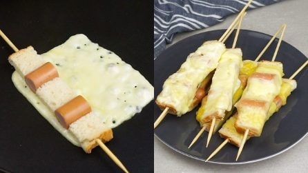Wurstel skewers: a perfect treat for a quick dinner!
